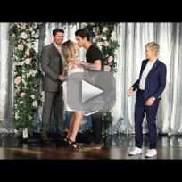 Kaley Cuoco Married on Ellen