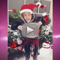 Miley Cyrus: Topless For Christmas!