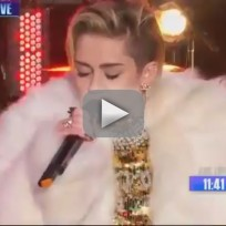 Miley cyrus new years eve performance