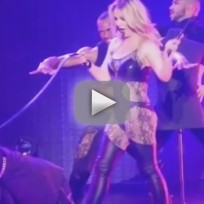 Britney Spears, David Lucado on Stage