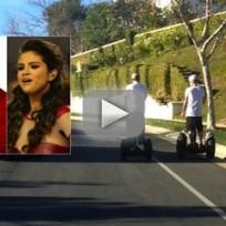 Selena Gomez, Justin Bieber Segway Pics