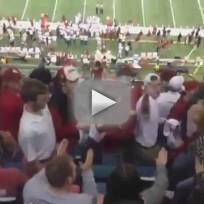 Alabama Fan FLIPS OUT on Oklahoma Fans