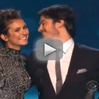 Ian somerhalder and nina dobrev win at peoples choice awards