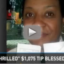 Struggling Waitress Receives HUGE Tip