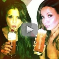 Selena Gomez Boozing
