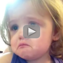 Little Girl Cries at Parents' Wedding Song