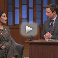 Kim kardashian on the late night part 1