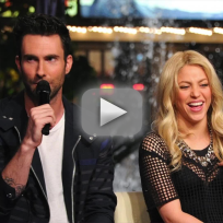 Adam levine too flirty with shakira
