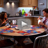 Mila kunis and ashton kutcher on two and a half men