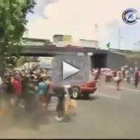 Car Runs Over Protesters in Mexico