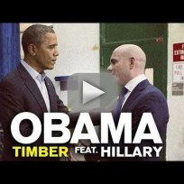 Barack obama and hillary clinton sing timber