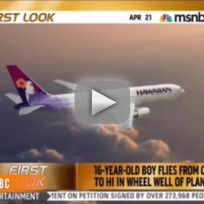 Teen Survives Flight In Plane's Wheel Well