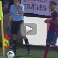 Dani Alves Eats Banana Thrown by Fan