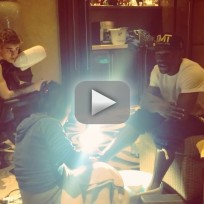 Justin Bieber and Floyd Mayweather: Spa Day!