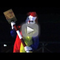 Killer clown prank yikes