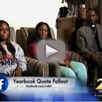 Yearbook Quote Costs Girl Graduation