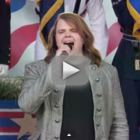 Caleb johnson sings national anthem