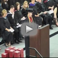 Roy costner recites lords prayer at high school graduation