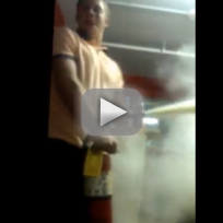 Drunk Idiot Uses Fire Extinguisher in Dorm