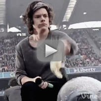 Harry styles catches bra