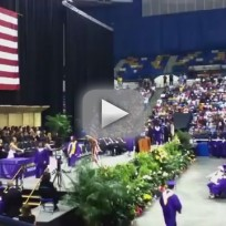 High School Graduate Strips Down to Underwear