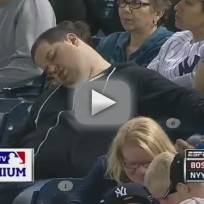 Fan Falls Asleep During Yankee Game