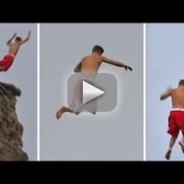 Justin Bieber Cliff Jump Fail!
