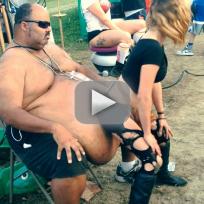 Woman Twerks on Giant Beer Gut