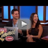Andi dorfman josh murray on jimmy kimmel live no ly wed game