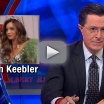 Stephen colbert talks justin bieber orlando bloom fight