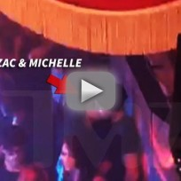 Zac efron and michelle rodriguez make out session