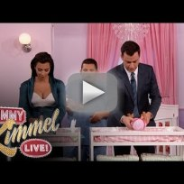 Kim-kardashian-and-jimmy-kimmel-change-diapers