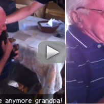 Grandfather Cries Over Puppy