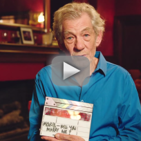 Ian mckellen assists with proposal