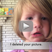 Girl Cries Over Photo Deletion