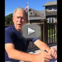 George w bush ice bucket challenge