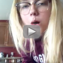 Girl Does Ice Bucket Challenge After Wisdom Teeth Removal