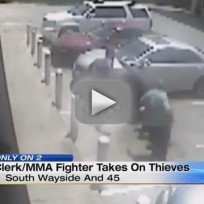 Clerk With MMA Training Fights Off Robbers