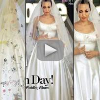 Angelina jolie wedding dress beautiful