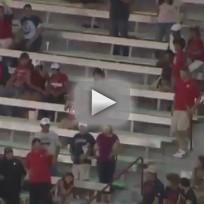 Arizona Fan Pops Beach Ball at UNLV Game
