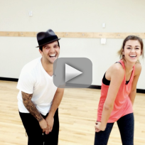 Sadie robertson mark ballas instagram video