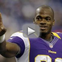 Adrian peterson banned by the vikings