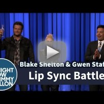 Gwen stefani and blake shelton lip sync battle against jimmy fal