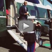 Obama coffee salute