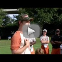 Matthew mcconaughey talks to the texas longhorns