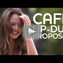 Cafe lip dub proposal wins internet forever