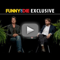 Brad pitt between two ferns with zach galifianakis