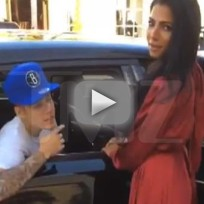 Justin bieber hits on a model