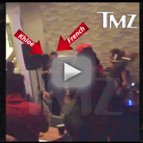 Khloe kardashian grinding with french montana