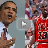 Barack obama disses michael jordan